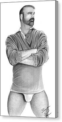 Hot Guy Next Door Canvas Print by Brent  Marr