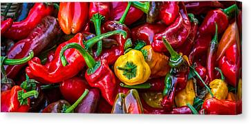 Canvas Print featuring the photograph Hot Pepper Time by Ken Stanback