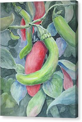 Hot Peppers Canvas Print