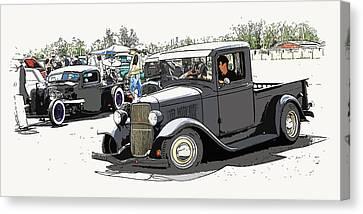 Hot Rod Show Trucks Canvas Print by Steve McKinzie