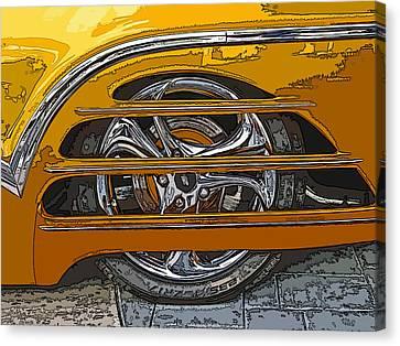 Hot Rod Wheel Cover Canvas Print by Samuel Sheats