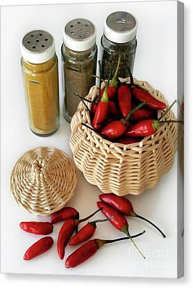 Flask Canvas Print - Hot Spice by Carlos Caetano