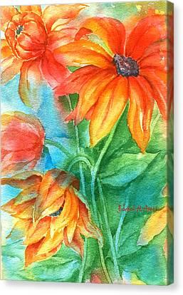 Hot Summer Flowers Canvas Print