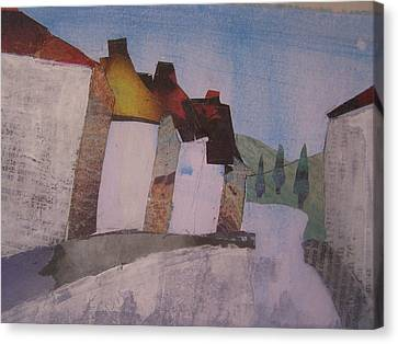 Rooftop Canvas Print - Hot Summer's Day by Sandra Cox