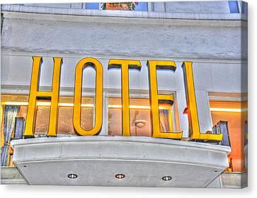 Hotel Canvas Print by Barry R Jones Jr