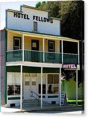 Hotel Fellows 2 Canvas Print