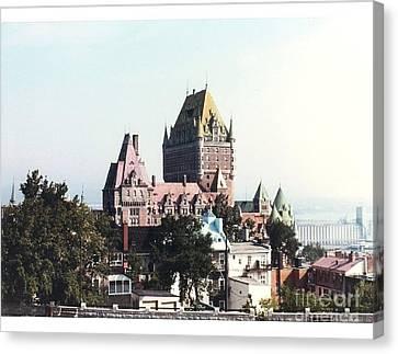 Hotel Frontenac Quebec Canada Canvas Print by Cedric Hampton