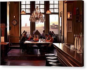 Hotel New York In Rotterdam Canvas Print by Nop Briex