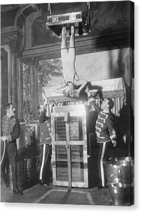 Houdinis Water Torture Cell Escape Canvas Print by Everett