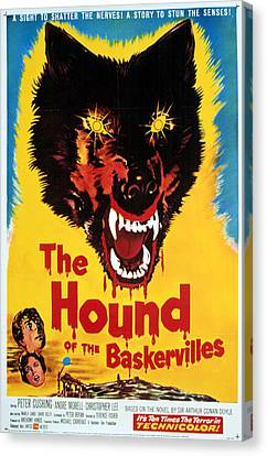 Horror Fantasy Movies Canvas Print - Hound Of The Baskervilles, Hammer by Everett