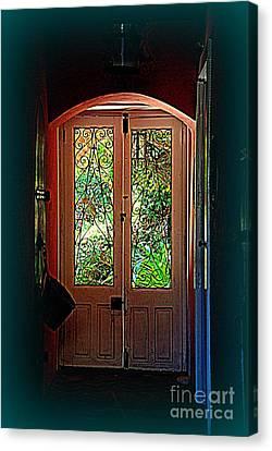 House Door 7 In Charleston Sc  Canvas Print
