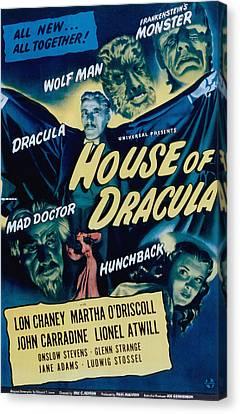 House Of Dracula, John Carradine, Lon Canvas Print by Everett