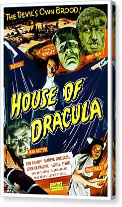 House Of Dracula, Top From Left Glenn Canvas Print by Everett