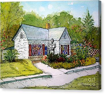 Canvas Print featuring the painting House Of Flowers by Gretchen Allen
