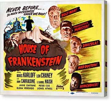House Of Frankenstein, 1950 Re-issue Canvas Print by Everett