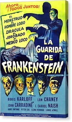 House Of Frankenstein, Girl On Mid-left Canvas Print by Everett