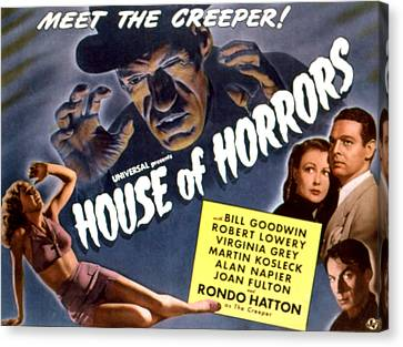 House Of Horrors, Rondo Hatton Canvas Print by Everett