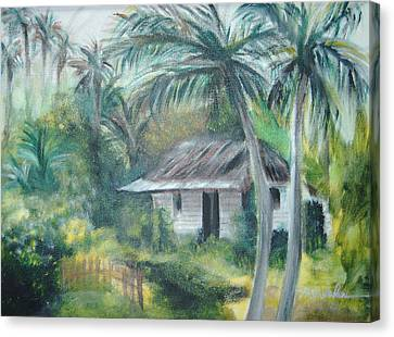 House Of Palms Canvas Print by Beth Dolan