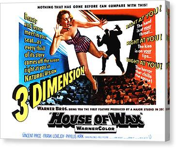 House Of Wax, 1953 Canvas Print by Everett
