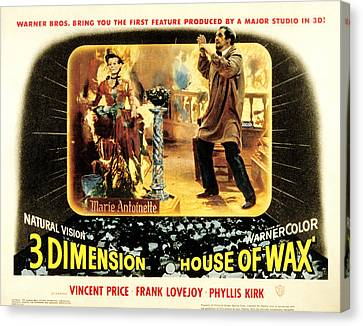 House Of Wax, Vincent Price, 1953 Canvas Print by Everett