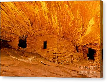 House On Fire Ruin Canvas Print by Bob and Nancy Kendrick
