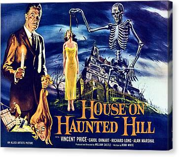 House On Haunted Hill, Left Vincent Canvas Print by Everett