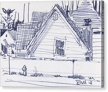 House Sketch One Canvas Print by Donald Maier