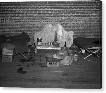 Household Goods Saved From A Flood Canvas Print by Everett