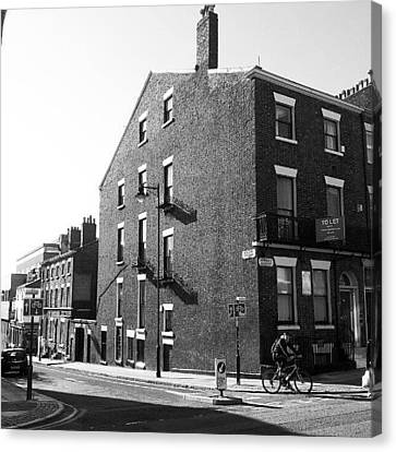 #houses #house #liverpool #streets #uk Canvas Print by Abdelrahman Alawwad