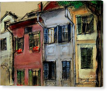 Houses In Transylvania 1 Canvas Print by Mona Edulesco