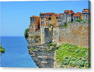 House Plants Canvas Print - Houses On Top Of Cliff by Pascal POGGI