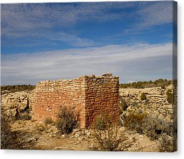 Hovenweep's Twin Towers Canvas Print by Feva  Fotos