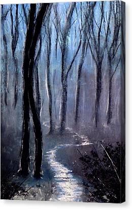 How The Trees Make Little Trees Canvas Print by Ricardo Di ceglia