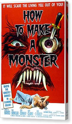 How To Make A Monster, 1-sheet Poster Canvas Print by Everett
