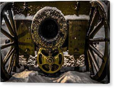 Canvas Print featuring the photograph Howitzer by Matti Ollikainen