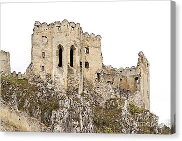 Canvas Print featuring the photograph Hrad Beckov Castle by Les Palenik