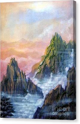 Huangshan Sunrise Canvas Print by Ronald Tseng