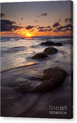 Hug Point Tides Canvas Print by Mike  Dawson