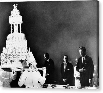 Huge Birthday Cake For President John Canvas Print