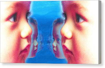 Human Cloning, Conceptual Artwork Canvas Print