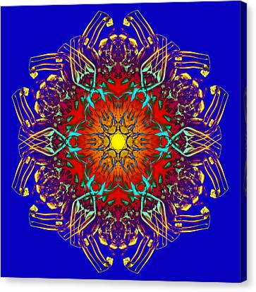 Humandala 1 Canvas Print by David Kleinsasser