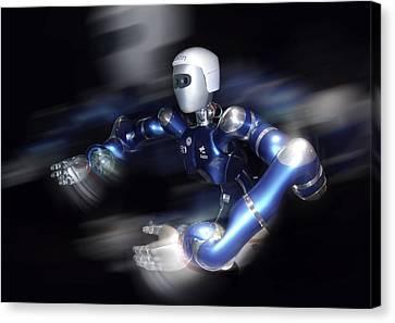 Humanoid Robot, Artwork Canvas Print by Detlev Van Ravenswaay