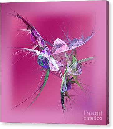 Hummingbird Fantasy Abstract Canvas Print by Andee Design