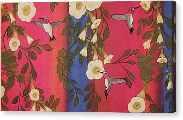 Hummingbird Picnic Canvas Print by Cindy Micklos