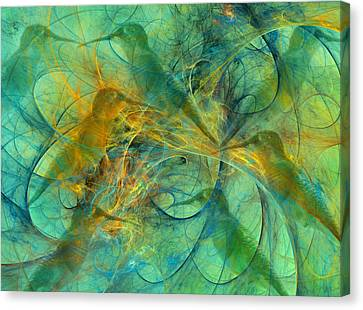 Hummingbirds Canvas Print by Betsy Knapp