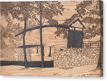 Humpback Covered Bridge Canvas Print by Stan Shirk