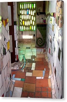 Hundertwasser Restroom Canvas Print