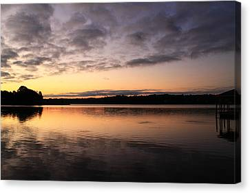 Hungry Fish At Sunrise Canvas Print