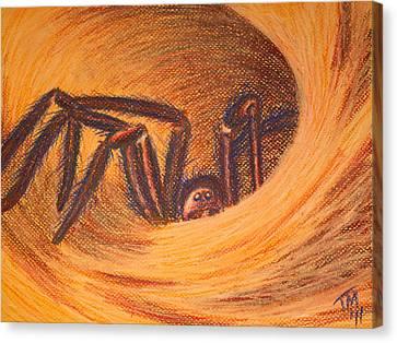Hunter In Hiding Canvas Print by Thomas Maynard