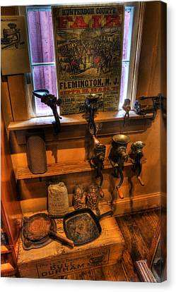 Hunterdon County Fair - General Store - Vintage - Nostalgia - Meat Grinders Canvas Print by Lee Dos Santos